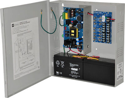 Altronix AL600ULPD8 Power Supply Charger, 8 Fused Outputs, 12/24VDC @ 6A, 115VAC