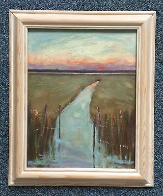 Original Painting Of The Fen by Julie Baker