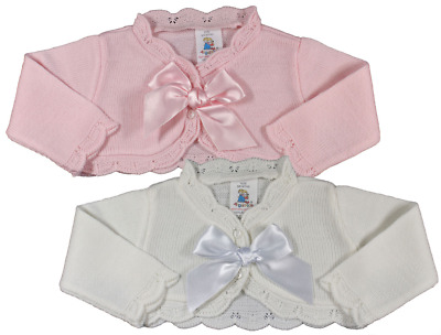 Baby girl BOW bolero cardigan Spanish Romany style christening party