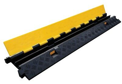 2 Channel External Heavy Duty Cable and Hose Protector Ramp