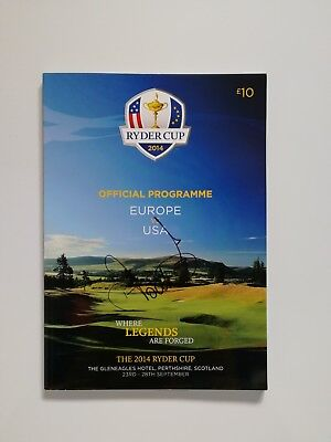 Ian Poulter signed Ryder Cup 2014 Gleneagles programme / COA