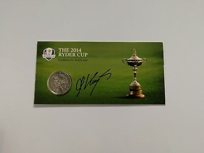 Martin Kaymer signed Ryder Cup 2014 Gleneagles limited edition coin / proof COA