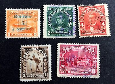 5 top old used stamps Costa Rica 02