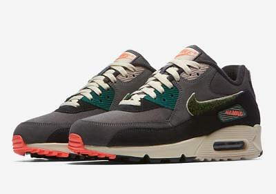 NIKE AIR MAX 90 Prm Se 858954 002 Oil GreyBright Mango