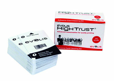 Evolis Cleaning Cards Self Adhesive ACL003, 50 Cards