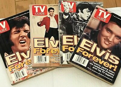 TV Guide Lot Vintage Collector's Covers Set of 4 ELVIS FOREVER August 16-22 1997