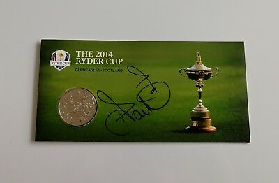 Ian Poulter signed Ryder Cup 2014 Gleneagles commemorative coin / COA