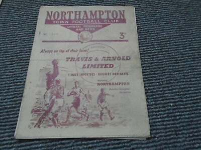 Northampton Town V Bournemouth & Boscombe 1957-8 Fa Cup 2Nd Round