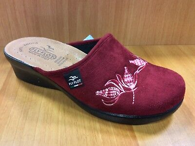 Fly Flot L7N77 We Bordo'  Ciabatte Donna Made In Italy Sottopiede Vera Pelle