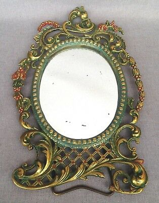 Heavy antique french picture frame made of ormolu 19th century Louis XV style
