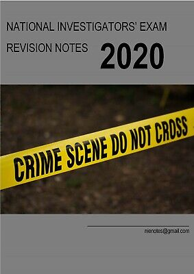 Police National Investigators Exam NIE Revision Crammer Text Book Notes Pass CID