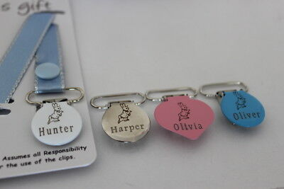 Personalised Dummy Clip DESIGN YOUR OWN ~ Avent, Tommee Tippee, MAM and more