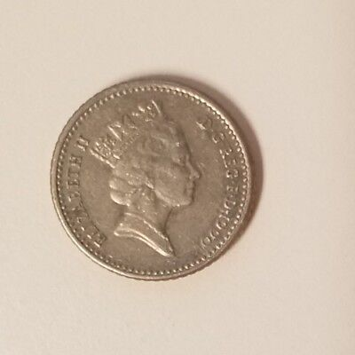 United Kingdom - 1990 5 Pence - foreign coin - old
