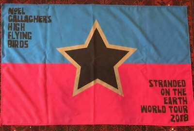 Noel Gallagher Tour Flag Oasis From Usa Tour Very Rare High Flying Birds Look!