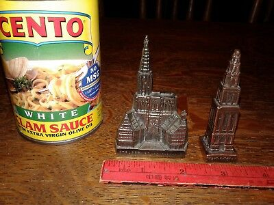 Lot of 2 Souvenir Buildings (Martinitoren, Netherlands & Strasbourg Cathedral)
