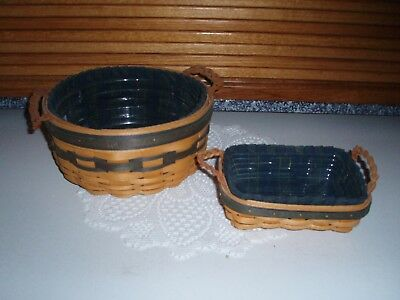 Set of 2 Longaberger Collector Club baskets