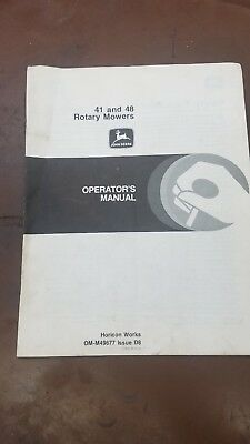 John Deere 41 And 48 Rotary Mowers Operators Manual