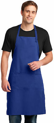 Personalized Custom Embroidery Extra Long Bib Apron with Stain Release. A700