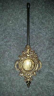Antique E. Ingraham Wall Hanging / Mantle Clock Pendulum