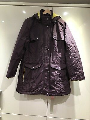 Marks & Spencer Per Una Weekend Thinsulate & Windproof Coat Burgundy Size 14