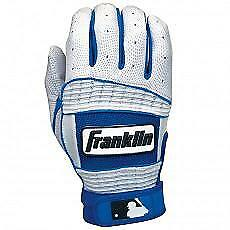 Franklin Neo Classic II Batting Gloves - Pearl/Royal - Youth Large