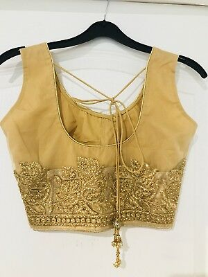 Gold Embroidered Saree Blouse