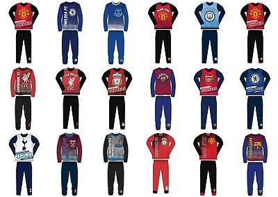 Boys Kids Children Child Toddler Teenage Long Sleeve Football Pyjamas Pjs Set