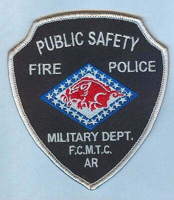 Ft Chaffee, Ar Public Safety Patch - Arkansas Ng / Arng Military Department