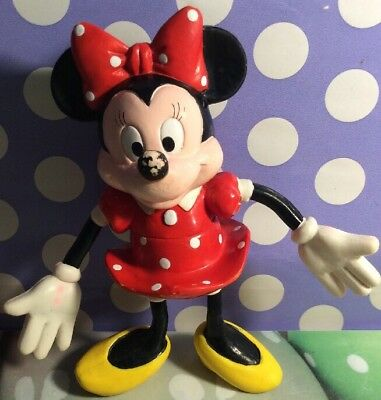"""A Very Rare Minnie Mouse  Bendable 5 1/2"""" Pre-Owned By Applause  China"""