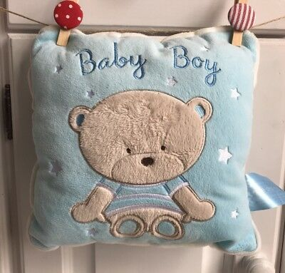 Baby Boy Blue Small Bear Pillow