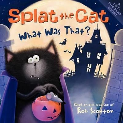Splat the Cat What Was That? Lift The Flap Kids Halloween Book Ages 4-8 NEW