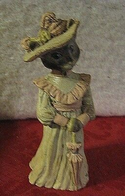 Sarah's Attic Limited Edition Regal Lady Cat Figurine In Victorian Dress 6.5""