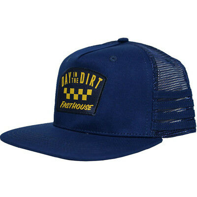 NEW Fasthouse LE 2018 Day In The Dirt Down Under Navy Snapback Hat Trucker Cap