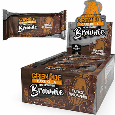 Grenade Carb Killa BROWNIE 60g Protein Bars | 3 / 6 / 9 / 12 | FREE P&P | NEWEST