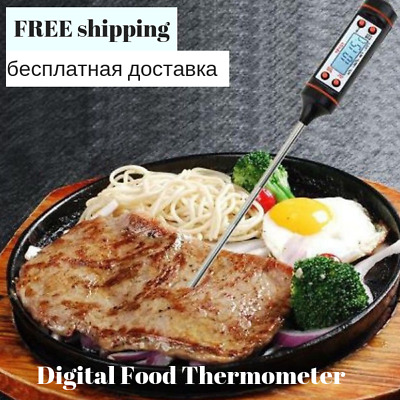 Digital Food Thermometer Kitchen Cooking BBQ Food Meat Probe Pen Style Household