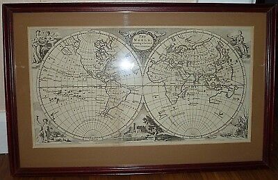 "Original Engraving  ""World According to the Latest Discoveries""  1760's  Map"