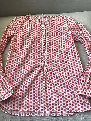 CREWCUTS Girls Cute Polka Dot Long Sleeve Shirt 12 years Read