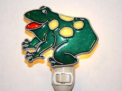 """Stain Glass Style - """"FROG """"   NIGHT LIGHT"""