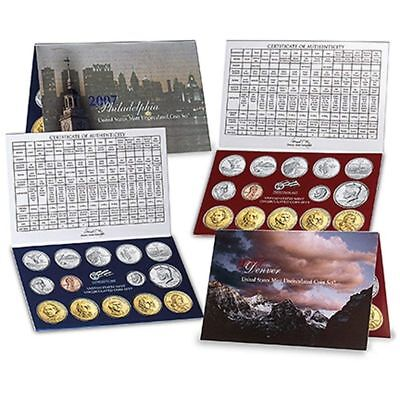 2007 P&D Uncirculated US Mint 28 Coin Set. Original, Unopened. $13.82 Face Value