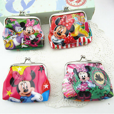 Minnie Mouse Purse /coin Wallet Birthday Party Lolly Loot Bag/treat Box Filler