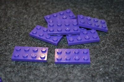 3 4x6 Purple Standard Base Plate Brick Bricks  ~ Lego  ~ NEW