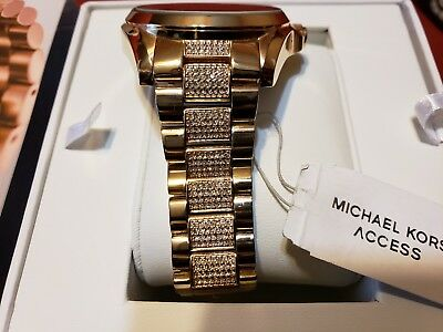 bf02b2193290 MICHAEL KORS Access Rose Gold Glitz Bradshaw Touch Screen Smartwatch MKT5018