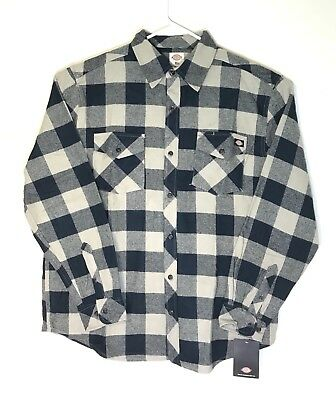 Dickies Flannel Plaid Shirt Casual Button Up Mens Size X Large Brand New Tags