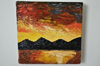 Original Abstract Painting  - Contemporary - Mountains - Oil On Deep Edge Canvas