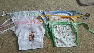 NWOT 7 x Reusable Old Fashion Cloth Nappies All Size Diapers Print Bulk sales