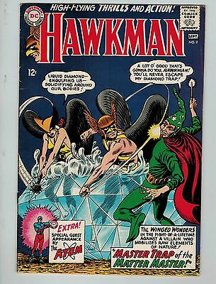 Hawkman #9 (Aug-Sep 1965, DC)! FN6.5+! Silver age DC beauty! WORTH A LOOK!