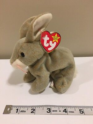 Nibbly the Rabbit TY BEANIE BABY, MULTIPLE ERRORS, Excellent Condition Plush