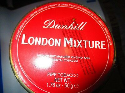 SEALED DUNHILL LONDON MIXTURE COLLECTIBLE Pipe Tobacco Tin 50 Grams