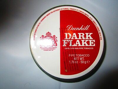 SEALED DUNHILL DARK FLAKE COLLECTIBLE Pipe Tobacco Tin 50 Grams