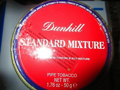 SEALED DUNHILL STANDARD MIXTURE COLLECTIBLE Pipe Tobacco Tin 50 Grams